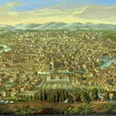 Panoramic view of Rome from the Janiculum Hill. Museum no. Loan:Gilbert.893:1, 2-2008