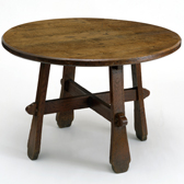 Oak table, G. E. Street