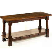 Refectory table by Philip Speakman Webb, England