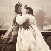 Isabella Grace and Florence Elizabeth. Photograph by Lady Hawarden, England