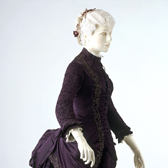 Purple satin dress, England