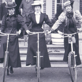 Women on bicycles, 1898