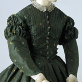 Green silk dress, England