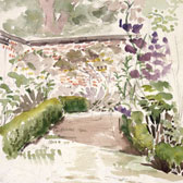 Beatrix Potter, Sketch of the walled garden at Gwaynynog