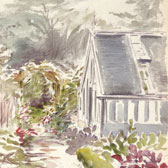 Beatrix Potter, Sketch of the garden at Gwaynynog