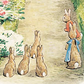 Beatrix Potter, Illustration for The Tale of the Flopsy Bunnies