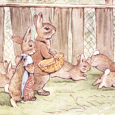 Beatrix Potter, finished illustration for The Tale of the Flopsy Bunnies
