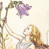 Cicely Mary Barker (1895-1973), Illustration of the Harebell Fairy for Flower Fairies of the Summer