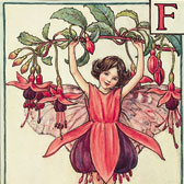 Cicely Mary Barker (1895–1973), Illustration of the Fuchsia Fairy for A Flower Fairy Alphabet