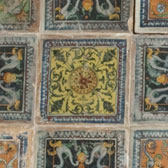 Pavement of tiles from the Petrucci Palace