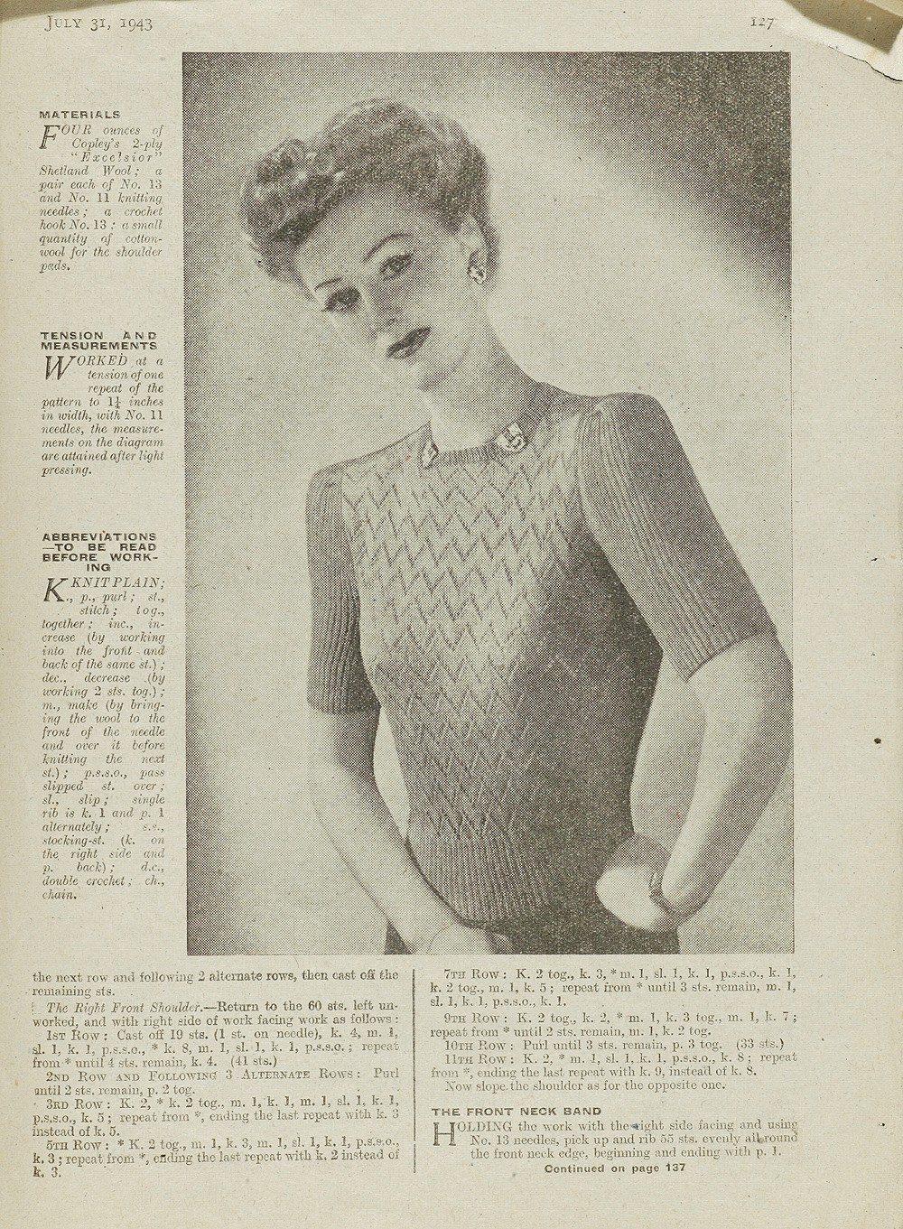 1940s Knitting Patterns - Victoria and Albert Museum
