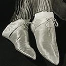 Ilse Bing, Gold lamé shoes for Harpers Bazaar