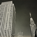 Ilse Bing, [Rockefeller Center or Daily Mirror and Chrysler Building tops]