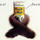 Poster advertising Cadbury's fruit and nut chocolate, Rosie Oxley