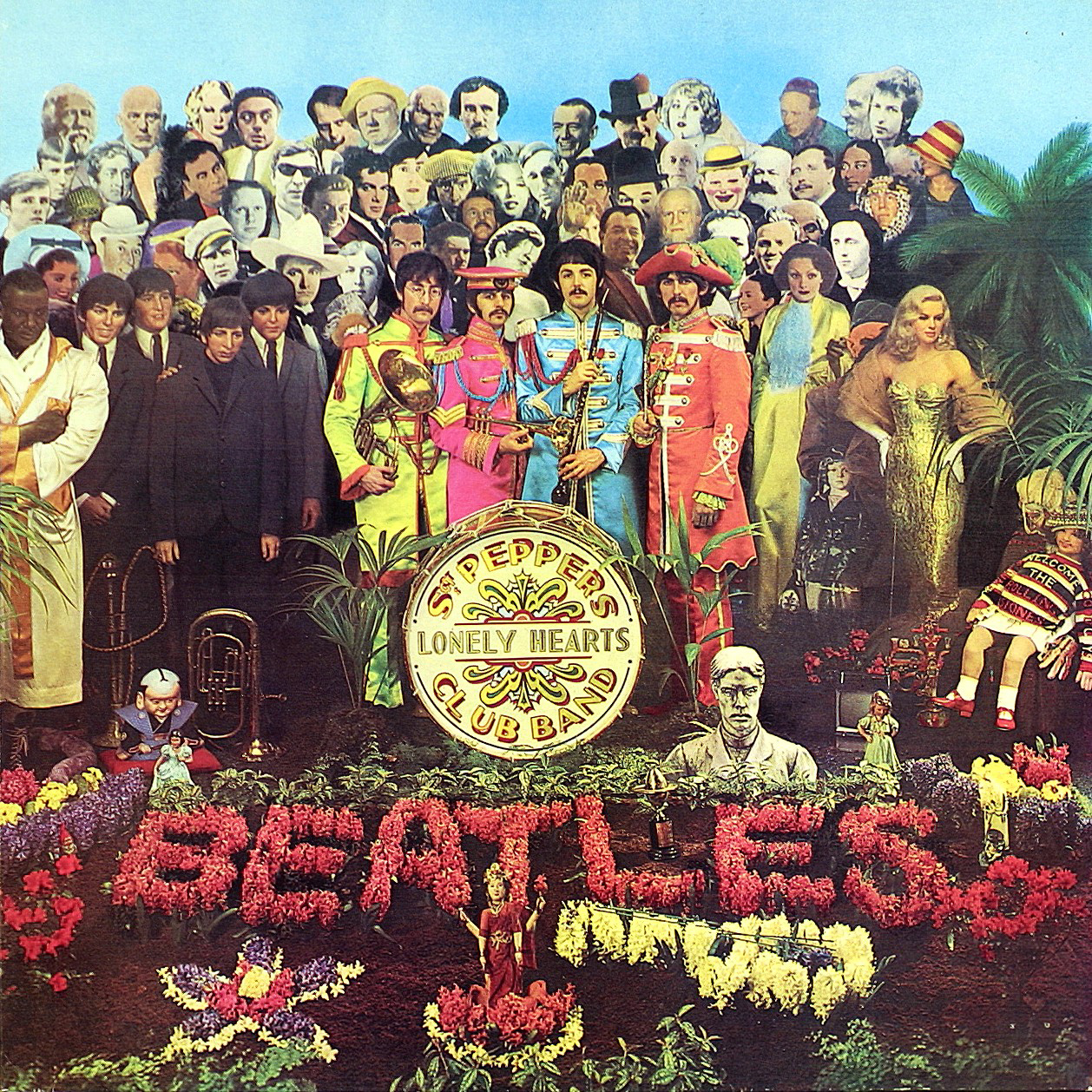 Album sleeve for Sgt. Peppers Lonely Hearts Club Band by The Beatles, Peter Blake and Jann Haworth