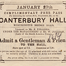 Canterbury Hall ticket
