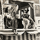 Bert Codman's Punch & Judy booth at Colwyn Bay