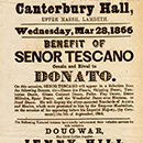 Canterbury Hall playbill