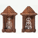 Models of two windows of the late 15th-century Mosque of Muhafiz Khan, Ahmadabad