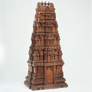 Model of a gopuram or temple gateway