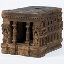 Model of the Mahabodhi temple at Bodhgaya