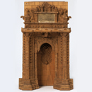 Model of a mihrab or prayer niche in the late 15th-century Mosque of Muhafiz Khan, Ahmadabad