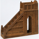 Model of a minbar or pulpit in the late 15th-century Mosque of Muhafiz Khan, Ahmadabad