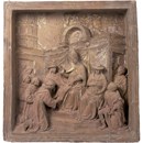 Relief, 'Pope Honorius III confirming the establishment of the Franciscan Order'