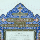 Owen Jones, menu card for the Paris International Exhibition