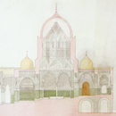 Owen Jones, 'Design for a garden pavilion in Cairo for the Governor of Egypt (section view)'