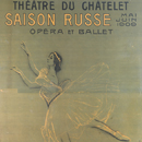 Poster for the Ballets Russes featuring illustration by Valentin Serov