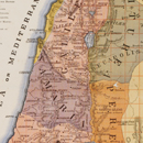 Pictorial map of Palestine, Edmund Evans
