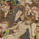 Tapestry altar frontal with scenes of Christ's Passion