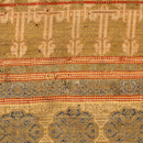 Fragment of silk textile with gold thread