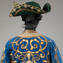 Rear view of costume for a Marquis in The Sleeping Princess