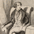 Print depicting Charles Dickens