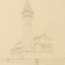 James Wild, 'Elevation drawing for Christ Church, Streatham'