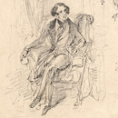 Pencil drawing of Charles Dickens