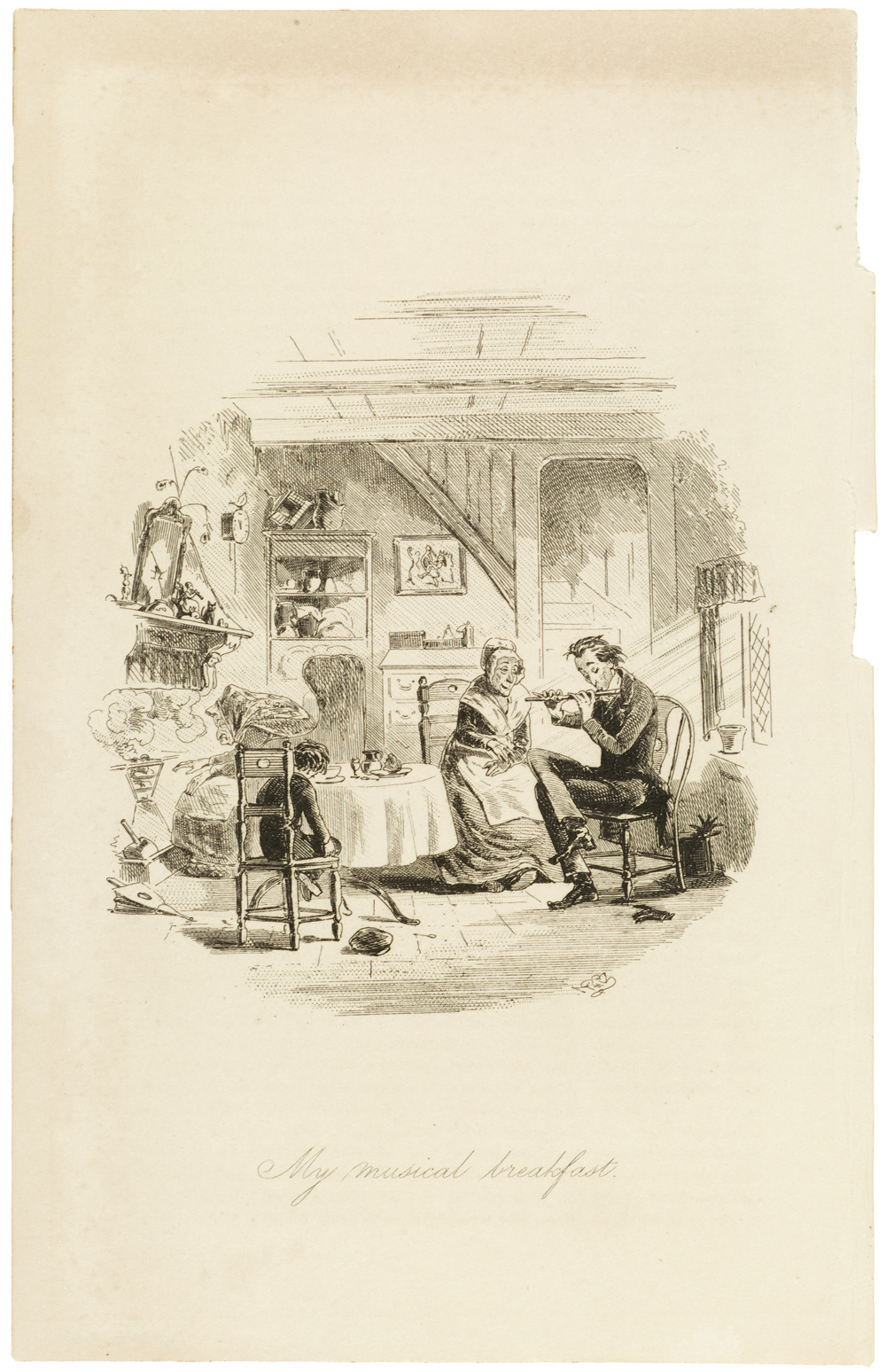 illustrations for dickens novels victoria and albert museum steerforth and mr mel etched illustration by hablot knight browne for david copperfield by charles dickens