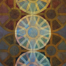 Design no. VI for St. Catherine' Wheel tapestries, Tom Phillips