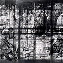 Photograph of the cartoon Death of Ananias in transmitted light