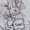 Design for the endpaper used in the fifth printing of The Tale of Peter Rabbit, 1903