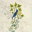 Birds and plants design for a wallpaper and textile, C.F.A. Voysey
