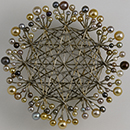Brooch, made and designed by Friedrich Becker (1922-1997)