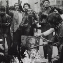 Abbas, 'Rioters burn a portrait of the Shah as a sign of protest against his regime. Tehran, December 1978', from the series 'IranDiary'