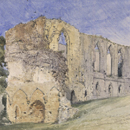 Easby Abbey, Yorkshire, by William Callow