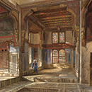 'Interior of the House of Mufti Sheikh el Mahadi, Cairo', by Frank Dillon