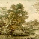 'Landscape with Cottage and Stream', by Thomas Gainsborough