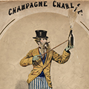 Music sheet cover for 'Champagne Charlie'