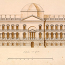 "Elevation in the ""Pantheon"" scheme for the new Parliament House, William Kent"